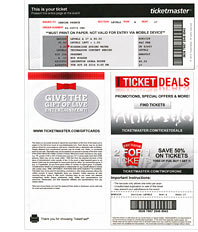 Ticketmaster Ticket